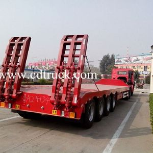 4 Axles 80tons Heavy Duty Leaf Spring Low Bed Truck Trailer Price