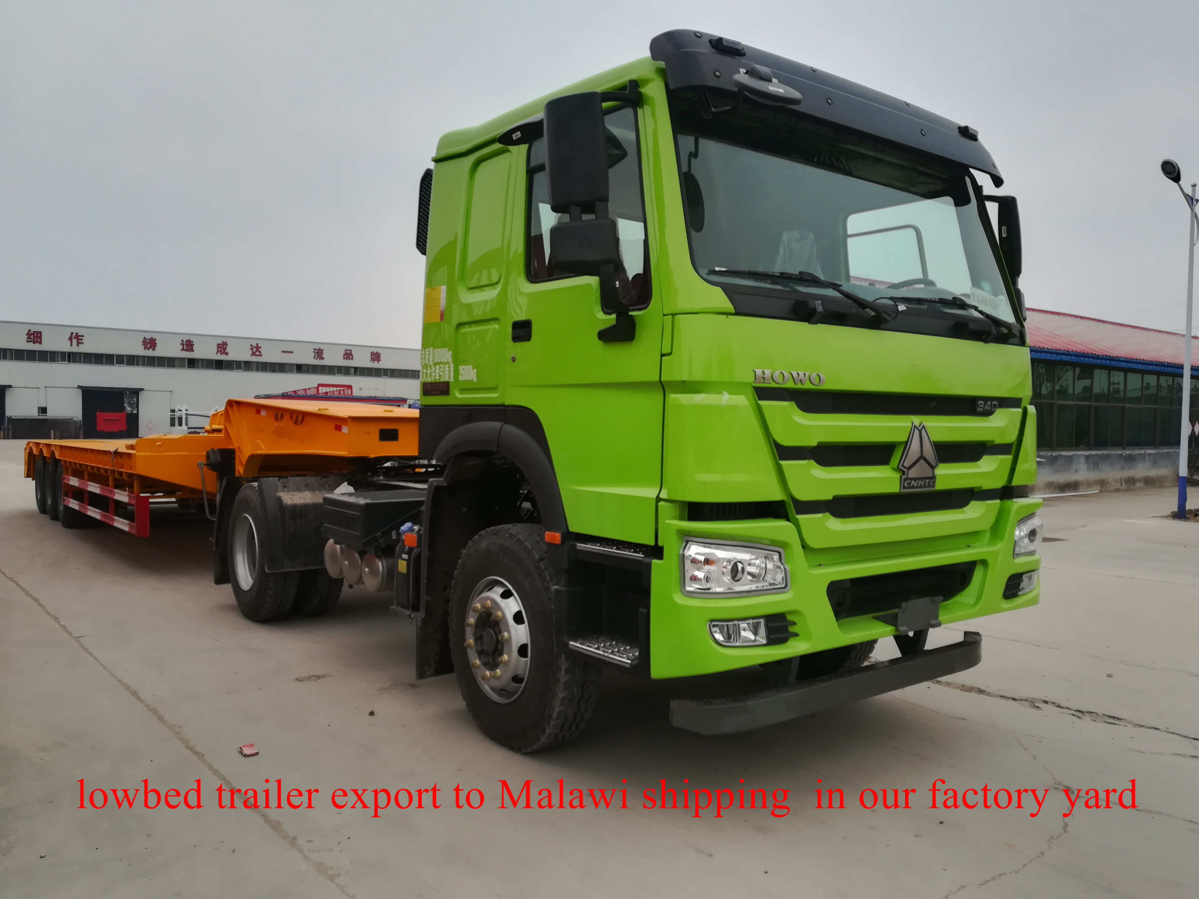 lowbed trailer export to Malawi shipping  in our factory yard on 04232018 (4)_副本.jpg