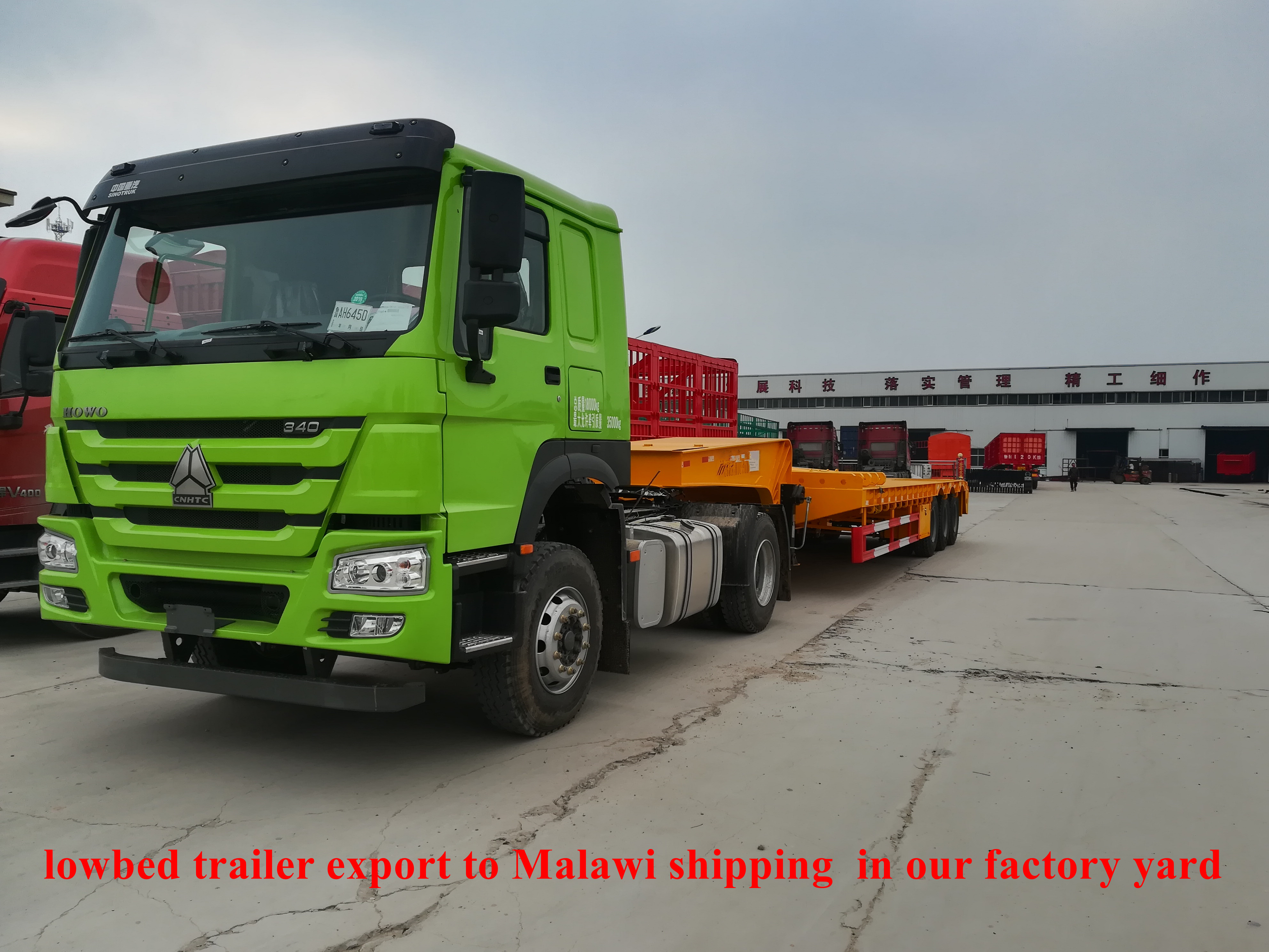 lowbed trailer export to Malawi shipping  in our factory yard on 04232018 (5).jpg