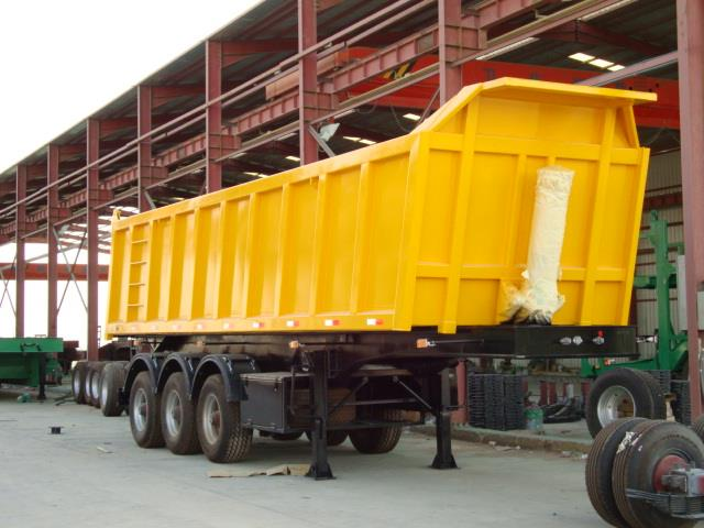 3 Axles Hydraulic Front Lifting 40 Cubic Meter Tipper Trailer