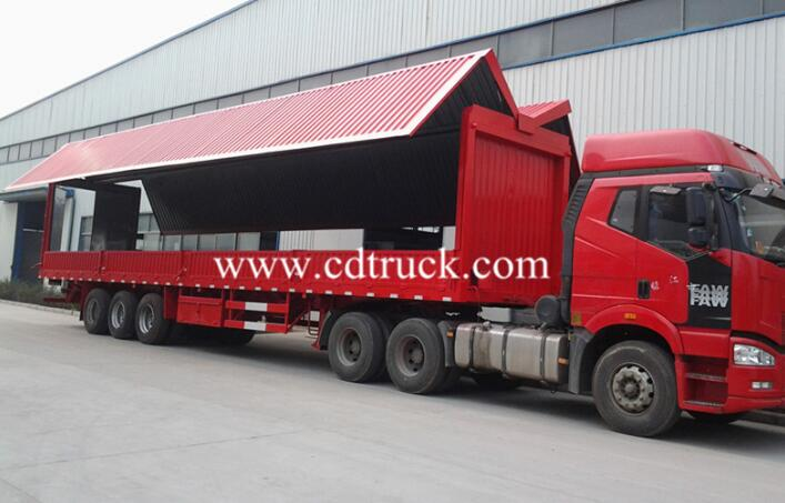 China Manufacture High Quality Cargo Wing Wan Trailer Open Van Semi Trailers For Sale
