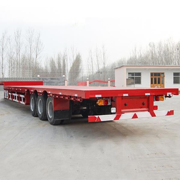 China 4 And 3 Axles Gooseneck Flatbed Utility Container