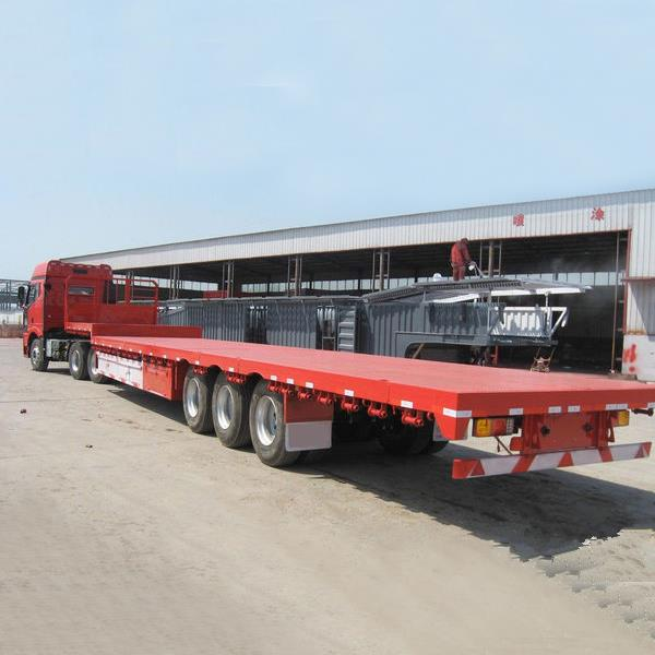 4 and 3 Axles Gooseneck Flatbed Utility Container Truck Trailer