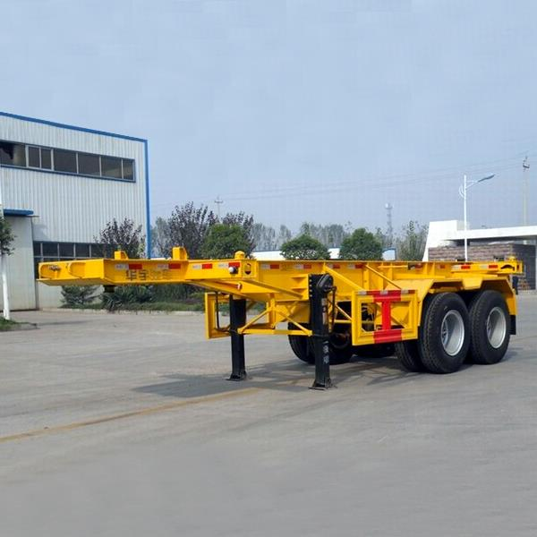 2 Axles 20ft and 40 Feet Skeleton Skeletal Container Truck Trailer Chassis