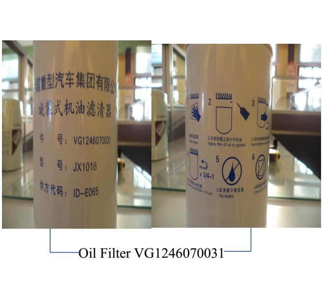 SINOTRUK Original Cheap Oil Filter VG1246070031