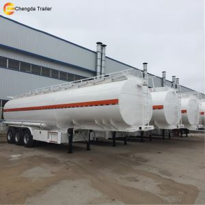 18 Wheeler Aluminum Fuel Diesel Tank Tanker Trailer for Sale