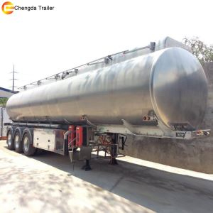 3 Axle 60000 Liter Aluminium Oil Fuel Storage Tanker Semi Truck Trailer