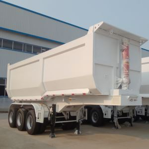 3 Axles 60tons Hydraulic Cylinder End Dump Tipper Semi Trailer