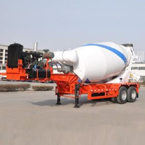 Brand New 2 Axle 12m3 Trailer Mounted Concrete Mixer For Sale