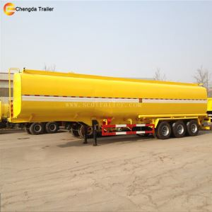 Chengda Factory 3 Axles 6 Compartments 42000 Litres Fuel Tanker Semi Trailer