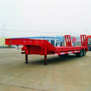 Detachable 60 Tons 3 Axle Gooseneck Horse Low Bed Semi Trailer for Sale