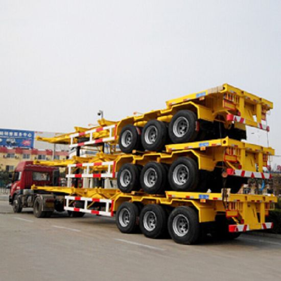 3 Axles40ft and 45 Feet Skeletal Container Truck Trailer Chassis