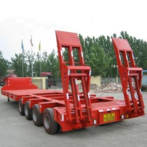 4 Line 8 Axles 120t and 150tons Gooseneck Equipment Lowboy Low Bed Trailer