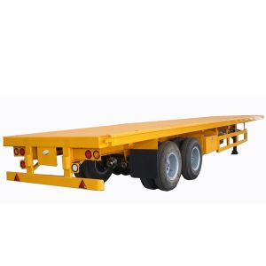 Cheap 2 Axle 40ft or 20ft Used Trailer Container Flatbed Truck Trailer and Container Semi Trailer for Sale