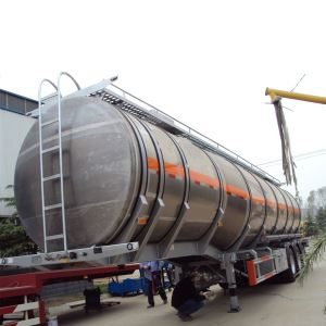 Triple Axles 42000 Liters Fuel Crude Oil Diesel Tank Tanker Semi Trailer for Sale