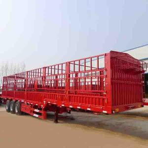 3 Axles BPW Axles Fence Dropside Cargo Semi Trailer for Truck