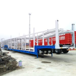 3 Axle Vehicle Car Carrier Semi Trailer Transport Truck