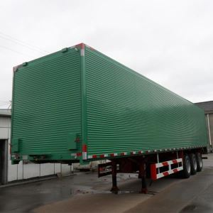 Triple Axles Box Enclosed Van Cargo Kingpin Trailer
