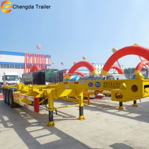 Tri-axle 20ft 40ft China Salable Flatbed Skeleton Container Semi Trailer for Sale
