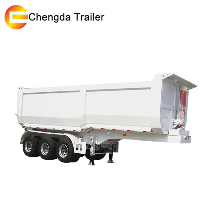 3 Axles 45 Cubic Meters Dump Tipping Trailer