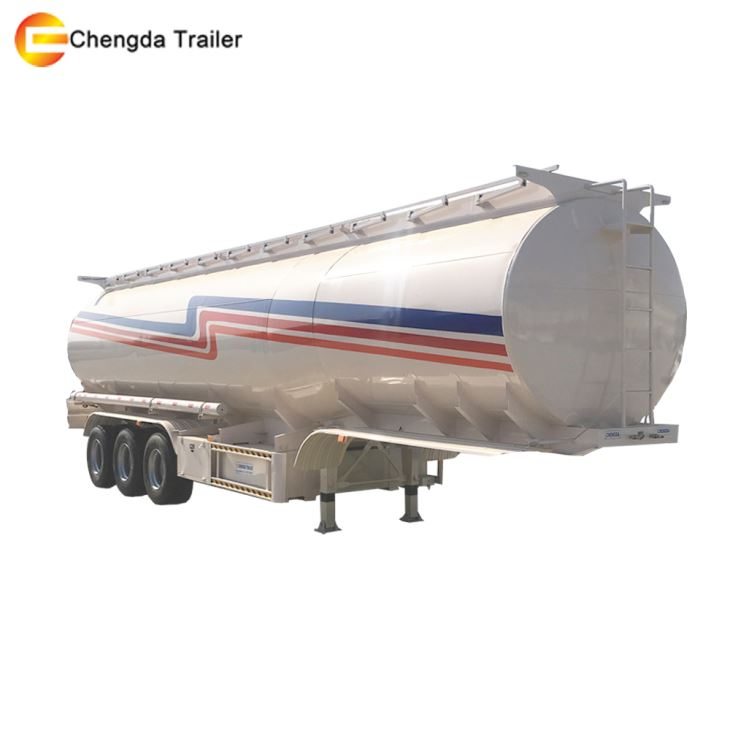 3 Axles 3 Compartment 45m3 Fuel Tank Trailer