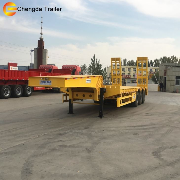 3m Width China Made Low Bed Semi Trailer