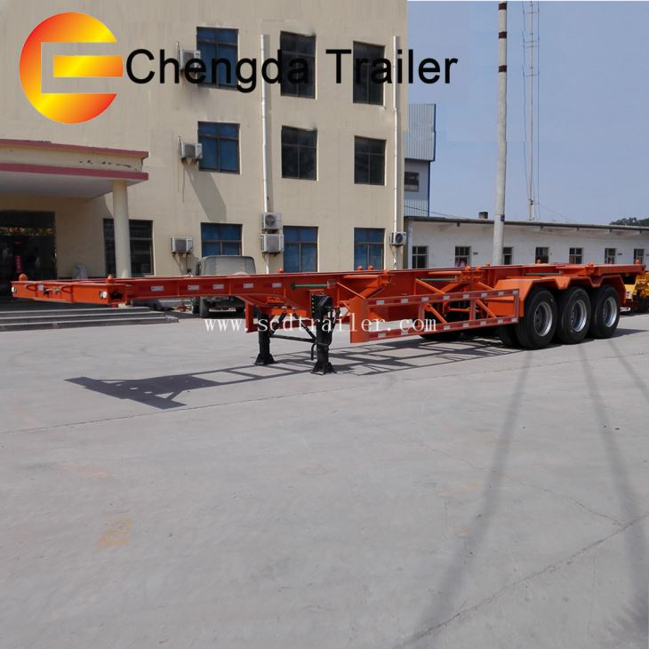 40ft 40ton Skeleton Container Trailer For Africa