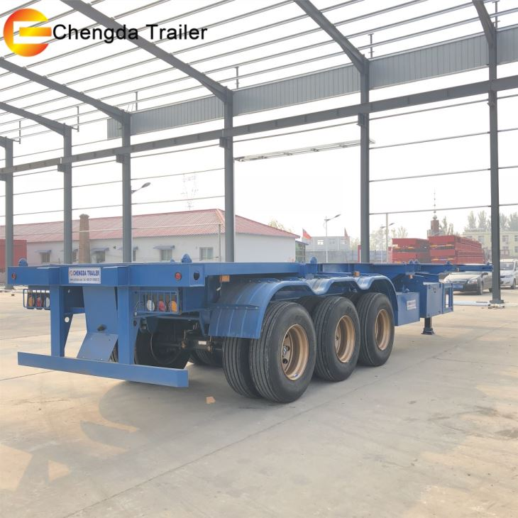 40ft Container Truck Trailer 45ft 3 Axles Skeletal Trailer For Sale