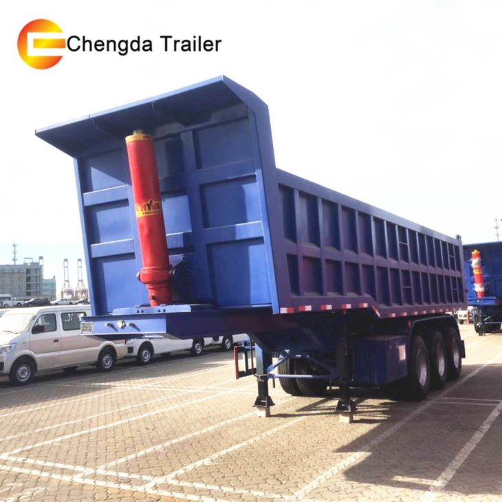 60Ton Container Square Shape Dump Tipper Tractor Tipping Semi Trailer For Sale In Mali