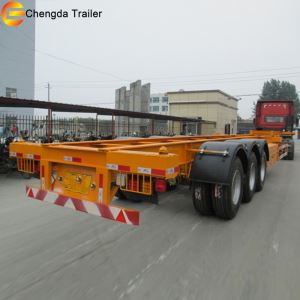 20ft 40ft 2axles 3 Axles New Skeleton Flatbed Semi Trailer For Sale