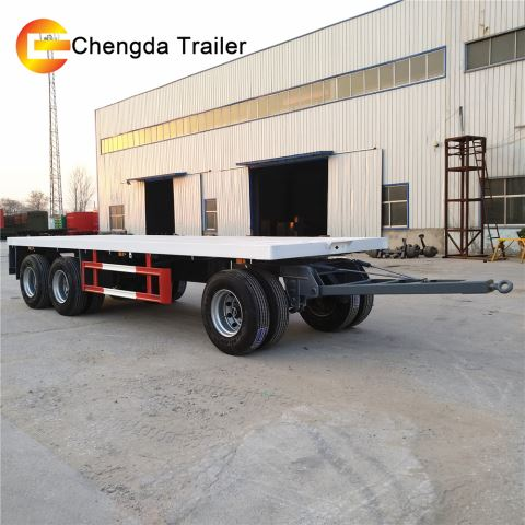3 Axle 30Ton Drawbar Full Trailer