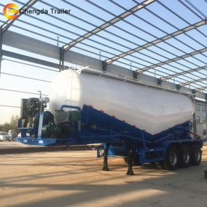 3 Axles Diesel Air Compressor Cement Silo Trailer