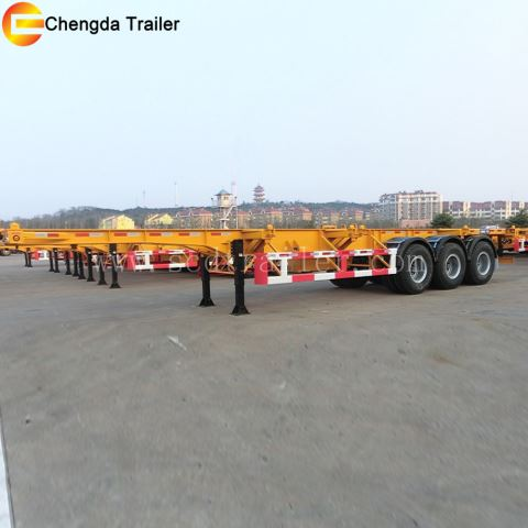 3 Axles Container Skeleton Trailer For Africa