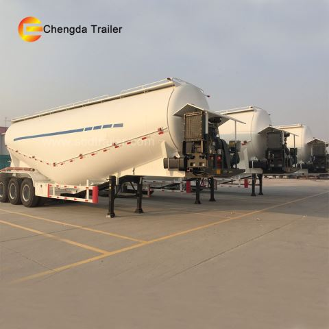 3axles 45cbm Cement Bulker Tanker Trailer