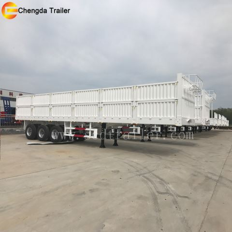 40ton 40ft 1000mm Side Wall Semi Trailer