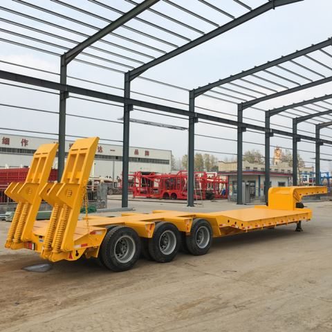 60tons Goose Neck Low Bed Truck Trailer
