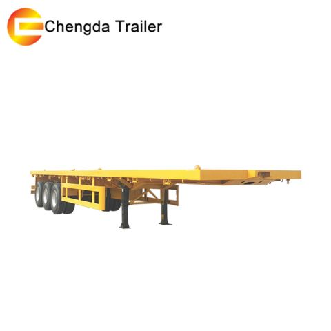 Tri Axle 50 Tons 40ft Flat Bed Container Utility Semi Trailer For Sale