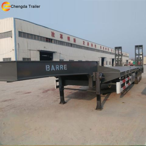 Lowbed Trailer Sale 60ton semi truck for promotion