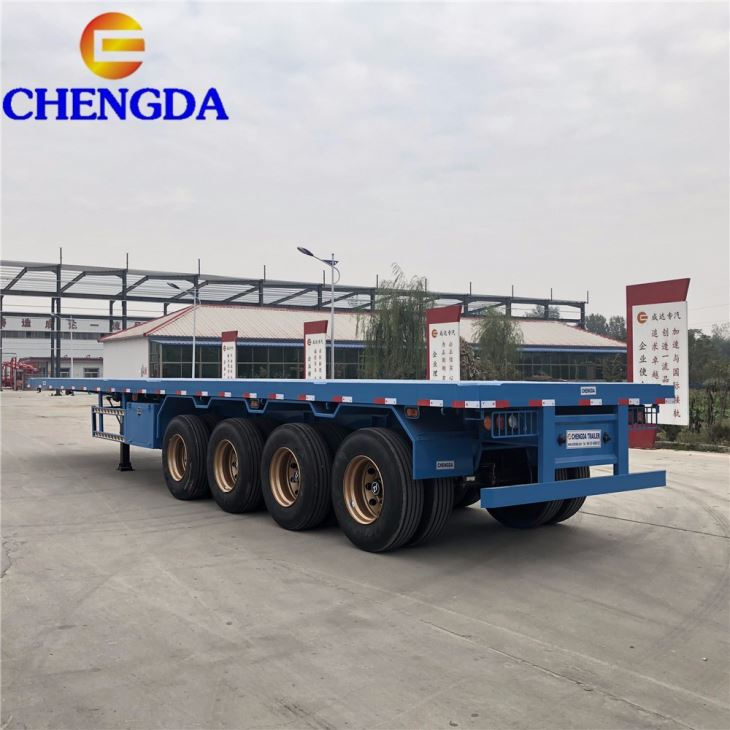 China 50 Ton 40 Feet Flatbed Trailer Manufacturers And